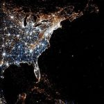 US lights at night